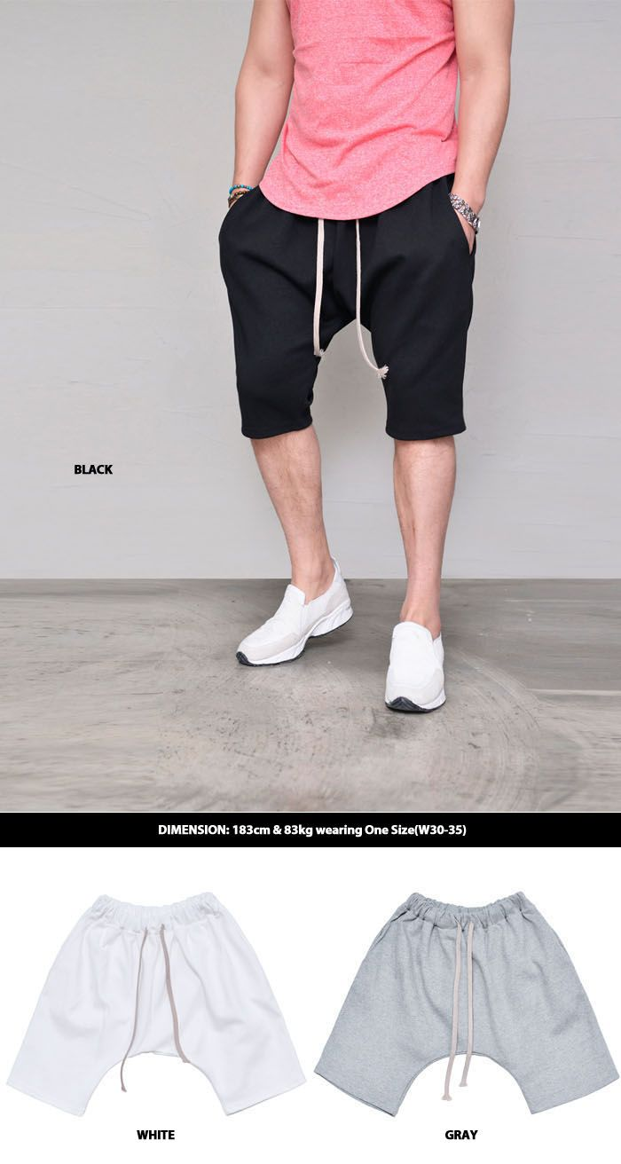 Bottoms :: Drop Baggy Jersey Shorts-Shorts 136 - GUYLOOK Men's Trendy Fashion Clothing Online