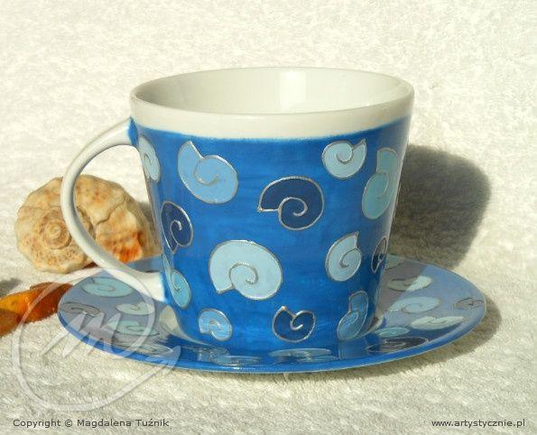 Filiżanka w amonity - cup in ammonites