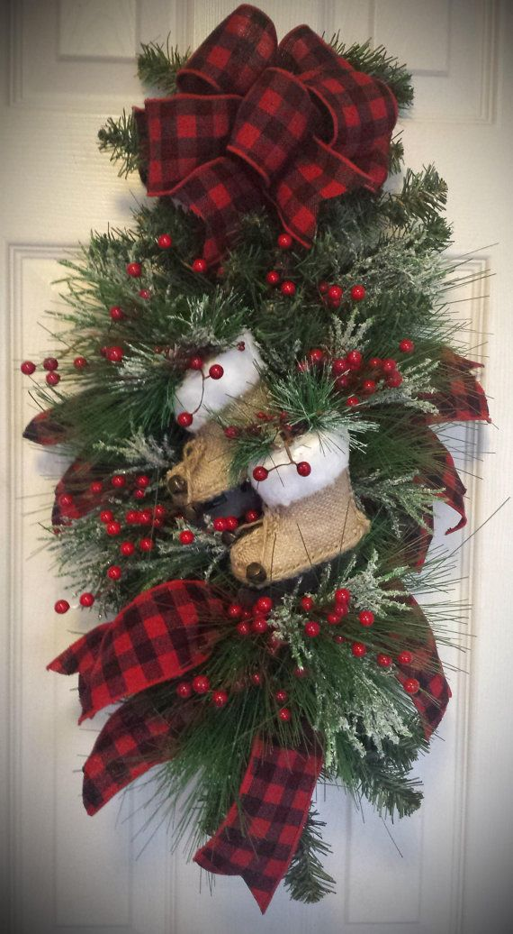 Rustic Country Christmas Swag Christmas Decoration Rustic