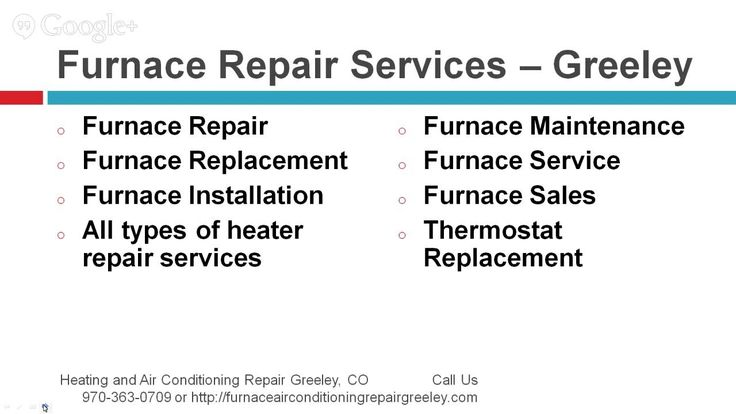 970-363-0709 - Greeley, Co Heater and AC repair Services. Description of Repair Services