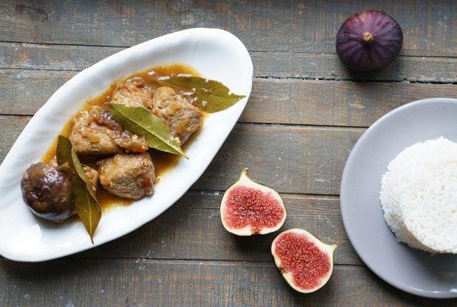 recette Food Filet mignon caramélisé au porc caramélisé et ses figues rôties au miel