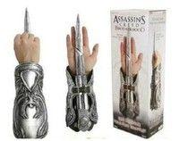 Wish | Assassin's Creed Cosplay Brotherhood Ezio Hidden Blade Auditore Gauntlet Replica (Color: White)