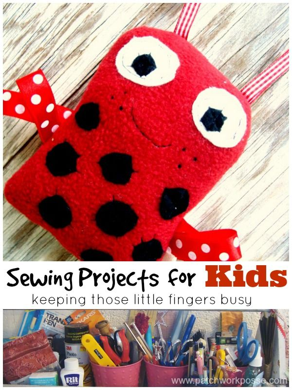 Easy Sewing projects for kids | learn to sew | patchwork posse