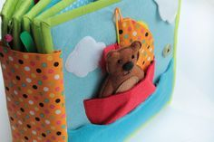 Handmade quiet book--great pages for jungle, ocean, pond, fishing, sort by color, more