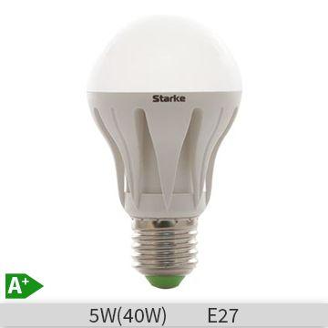 Bec LED STARKE 5W, A60, E27, 30000 ore, lumina calda