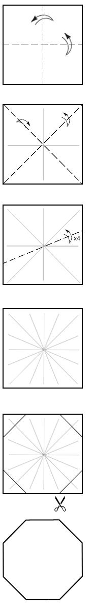 How to make an octagon from a square.