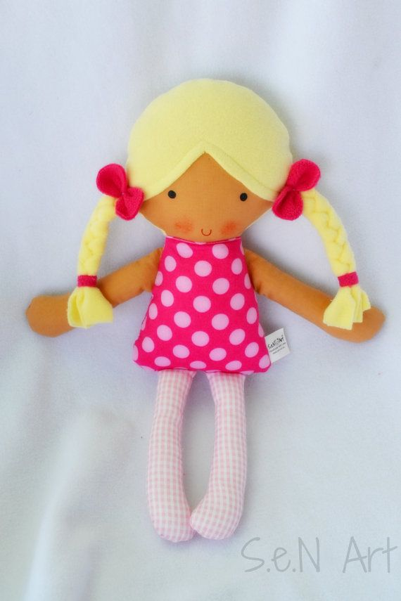 Handmade Fabric Doll  Rag Doll  Hand made Cloth Doll  by SenArt1