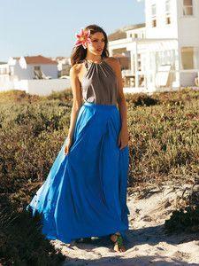 Burda Style: Damen - Röcke - Ausgestellte Röcke - Rock - lang - Kellerfalte