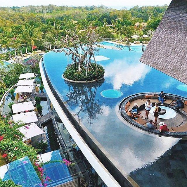 All behold @rimbajimbaran in Jimbaran, by Ayana Resorts.  'Rimba' means 'dense forest' in Indonesian.  by @slavinna022