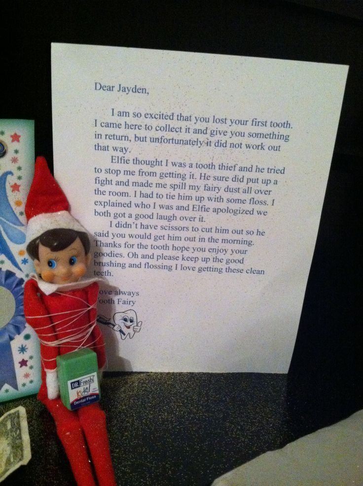 Tooth fairy meets elf on the shelf