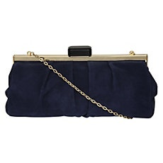 BLIMEY - Satin Navy Clutch Bag by Dune Shoes