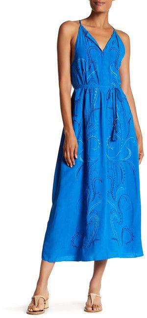 Robert Graham Tania Embroidered Maxi Dress