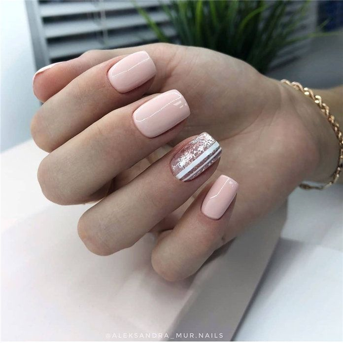 100 Pretty Winter Nail Design Ideas 2019 Winter Nail Designs
