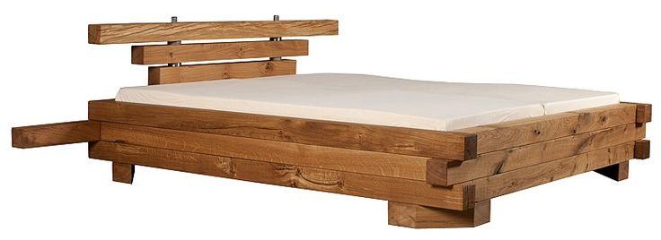 Massivholzbetten  Exklusives Holzbett aus massiver Eiche, moderne Holzbetten mit ...