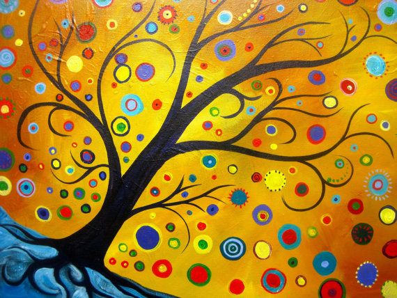 Tree Painting with a bohemian flavor a new tutorial for Hart Party by Cinnamon Cooney. This great funky abstract tree will be a ton of fun for your Personal Painting Party. Coming soon to You TubeTree Painting with a bohemian twist. acrylic on by hARTpARTY, $350.00