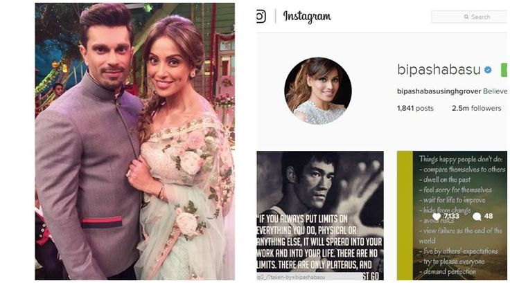 Actress Bipasha Basu, who married actor Karan Singh Grover on April 30 this year, is one happy new bride, and she's letting the world know. The latest being changing the display name on her Instagram account, which now reads: 'bipashabasusinghgrover'.
