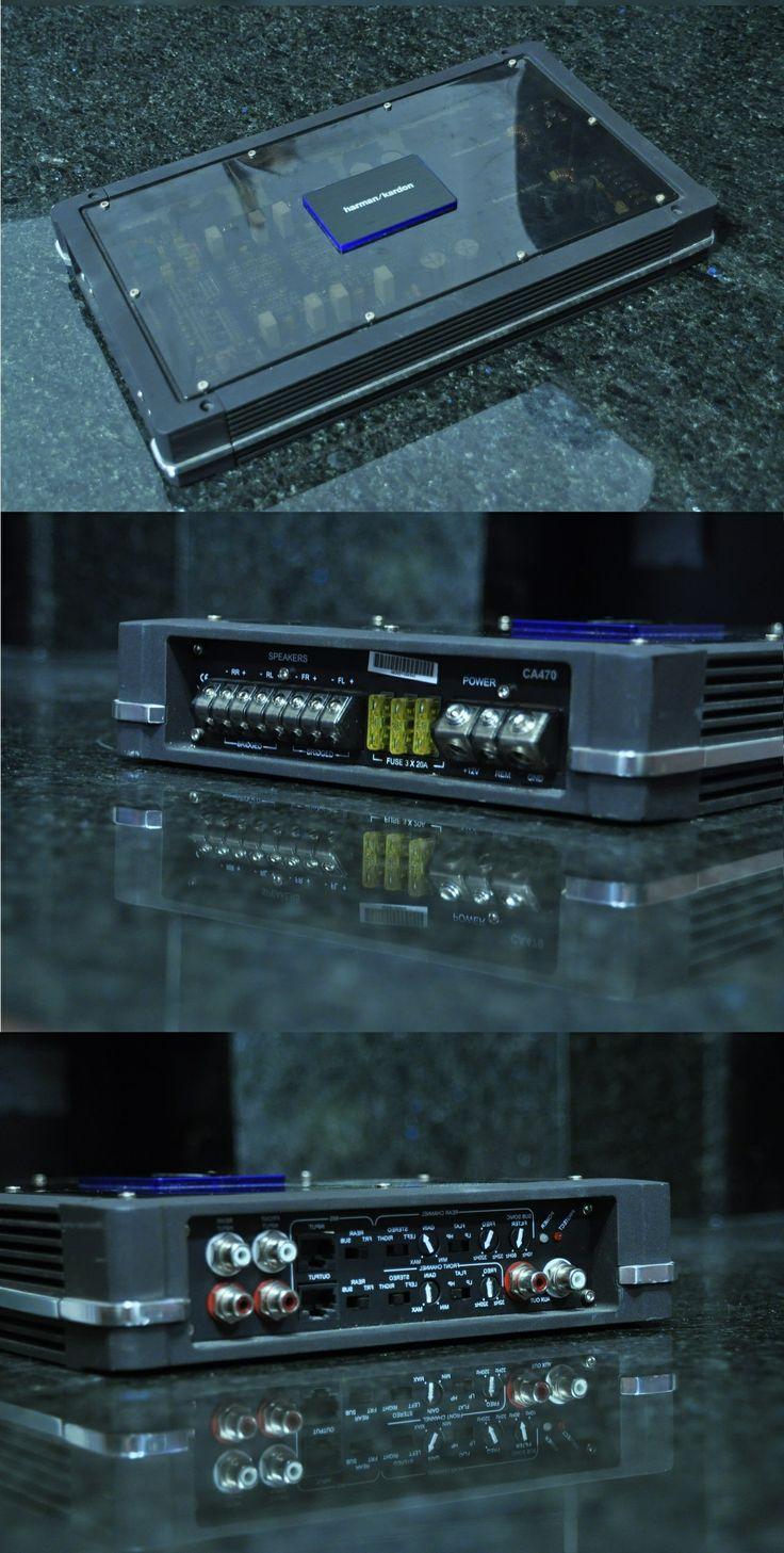 Harman Kardon CA470 • 4x 85W RMS, 4Ω, ≤1% THD + N • 4x 135W RMS, 2Ω, ≤1% THD + N • THD + N: 0.05%, 4Ω • Signal-to-noise ratio: 85dBA, 4Ω • Signal-to-noise ratio: 104dBA, 4Ω • Frequency response: 10Hz – 100kHz (–3dB)