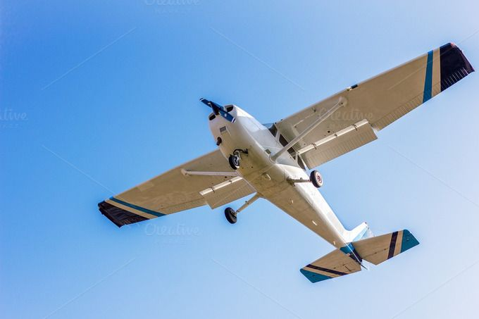 Light sport aircraft by JCB Photogr@phic on Creative Market
