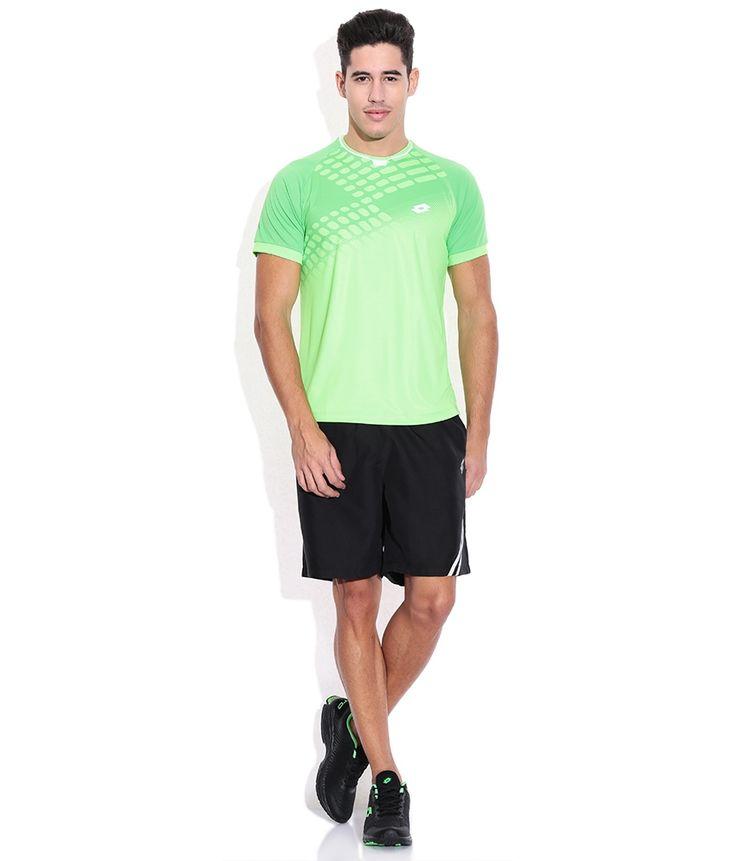 Lotto Black Polyester Shorts