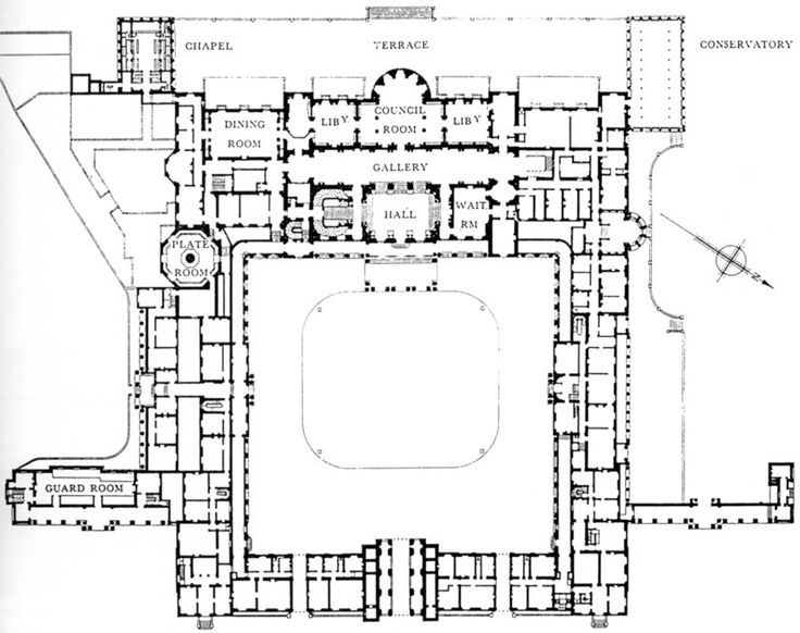Buckingham palace floor plans castles palaces for Palace design homes