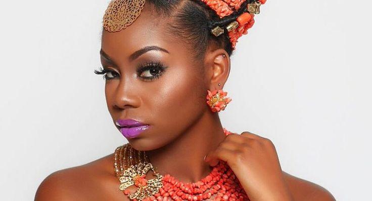 Nigerian Wedding: Beautiful Edo-Benin Bridal Makeovers by Glam by Isoken  - Nigerian Wedding