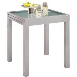 Ambia Garden Gartentisch Metall Glas Grau 70 140 X70x75 Cm