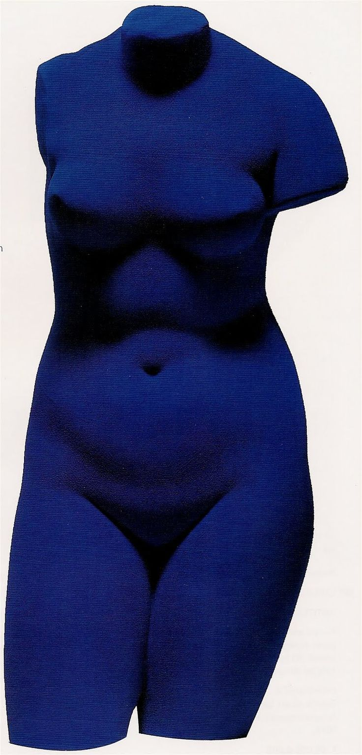 Yves Klein. The Venus of Alexandria, 1960.