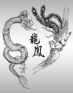 """""""Phoenix and dragon, along with the qilin, unicorn and tortoise is regarded as the """"Four Supernatural Spirits"""". Therefore it is believed when someone see phoenix and dragon then he or she will be extremely lucky."""""""