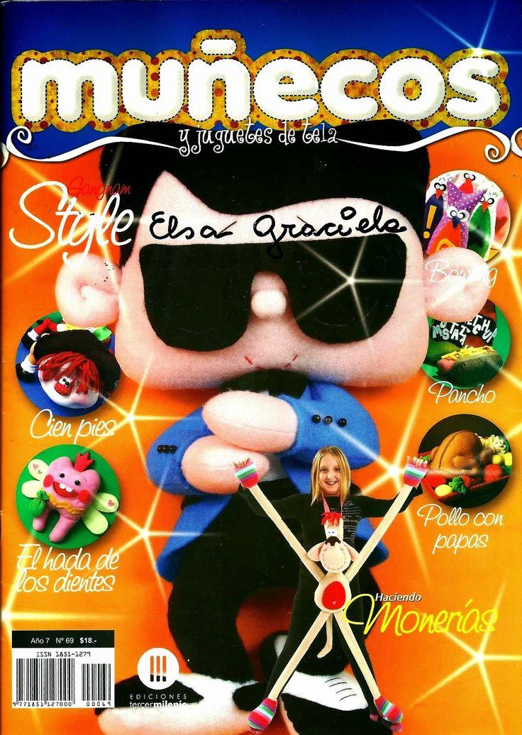 Como hacer muñecos y juguetes en tela paso a paso - Revistas de manualidades Gratis