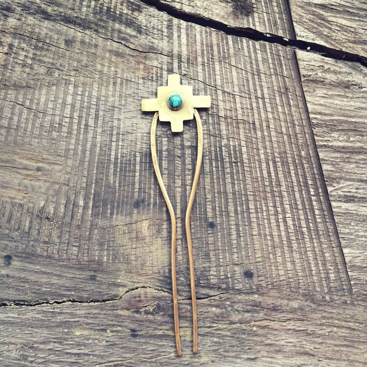 Turquoise Hair Fork // Tribal // Hair Pin // Hairpin // Southwestern Hair Pin // Hair Stick // Boho Chic // Top Knot // Raebird by Raebird on Etsy https://www.etsy.com/listing/268990974/turquoise-hair-fork-tribal-hair-pin