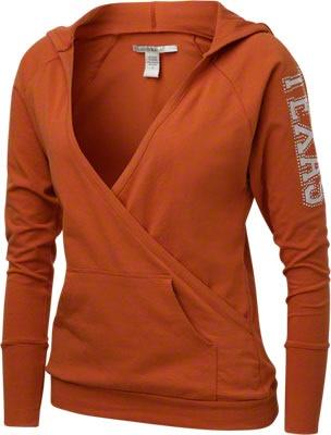 Texas Longhorns Women's Burnt Orange Crossover Hooded Sweatshirt