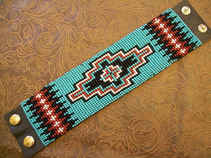 loom beaded cuff bracelet.                                                                                                                                                                                 More