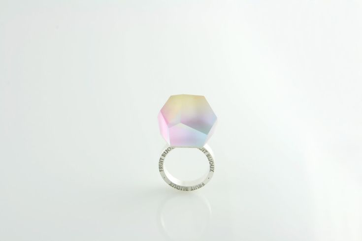 Fruit Bijoux, VU, silver ring, multicolor. To download high or low resolution product images view Mondrianista.com (editorial use only).