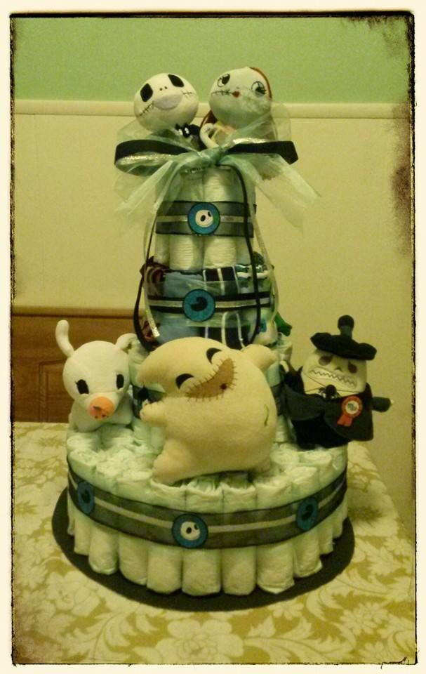 Nightmare Before Christmas Diaper Cake Ethans Nightmare