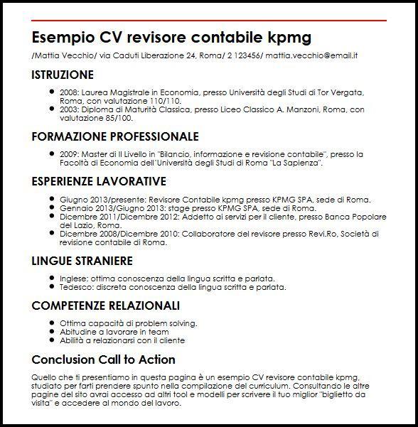 Curriculum Vitae Kpmg Modelos De Curriculum Vitae Plan De