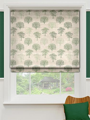Little Orchard Evergreen Roman Blind from Blinds 2go