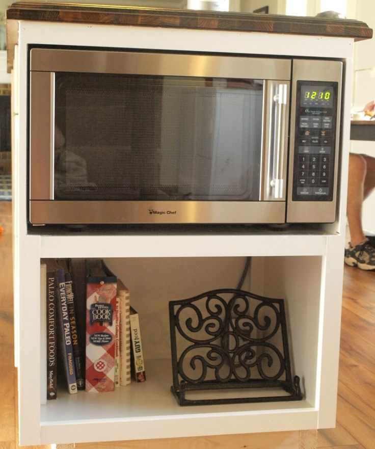 Under counter microwave kitchens pinterest shelves Under cabinet microwave