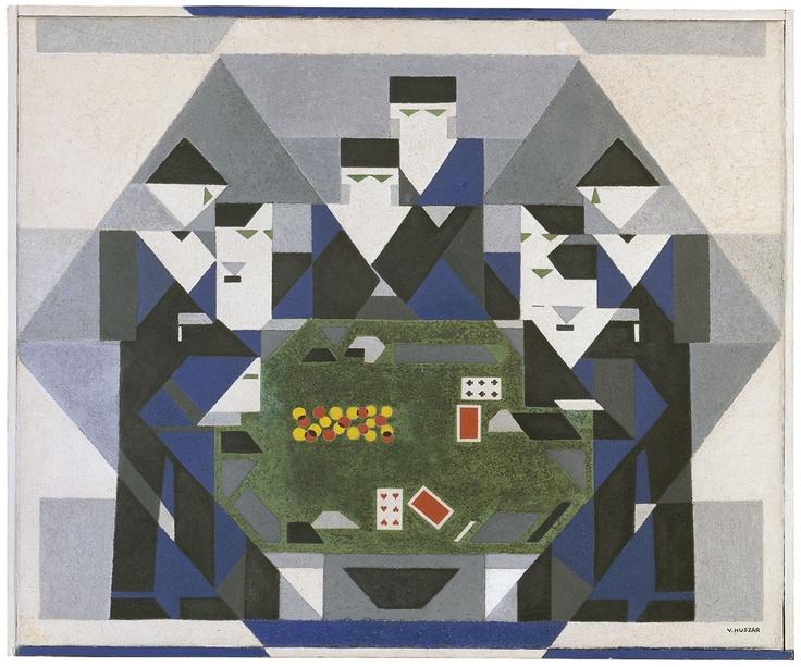Baccarat Gaming Art : Huszár Vilmos - Baccarat Game (c. 1928-29)
