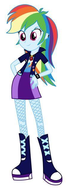 Rainbow Dash as Dazzlings by MixiePie on DeviantArt