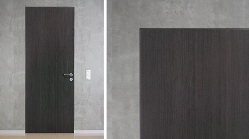 Flush with the wall, invisible casing - CF5 modern interior doors