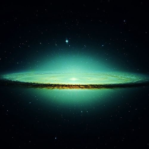 M 104 Sombrero Galaxy in Virgo Cluster-member of the 'local group'-the cluster of galaxies in which our Milky Way is situated.