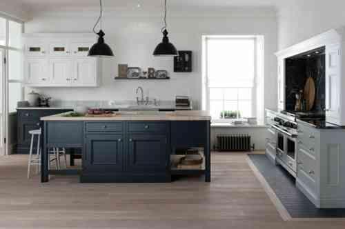 cuisine tendance en gris foncé et noir