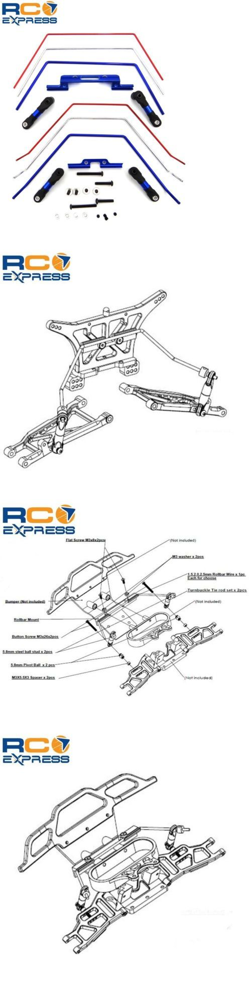 Suspension and Steering Parts 182199: Hot Racing Traxxas Slash 2Wd Front And Rear Wide Anti Roll Bar Sway Bar Te311slc -> BUY IT NOW ONLY: $32.88 on eBay!