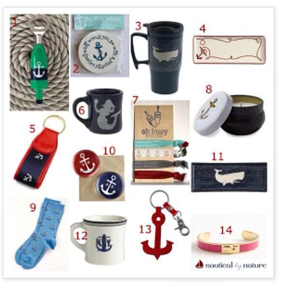 Our All Hands On Deck buoy bottle opener included in this fun nautical gift guide from Nautical by Nature blog! Such a fun mix of amazing gifts from great brands!
