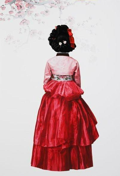 본인에 대한 정보는 알려진 것이 없지만 계속해서 한복 입은 여성의 뒷모습만 그리는 화가. | #6 정명조 ...