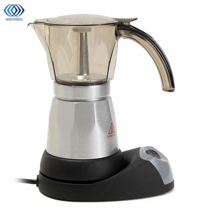 Household Mini Coffee Maker Electric Automatic Coffee Machine Cafetiere 6 Cups Espresso Percolator Mocha Tea Kettle Kitchen