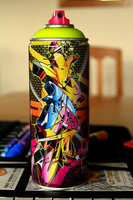 Cool graffiti spray can