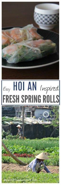 Easy Hoi An Inspired Fresh Spring Rolls