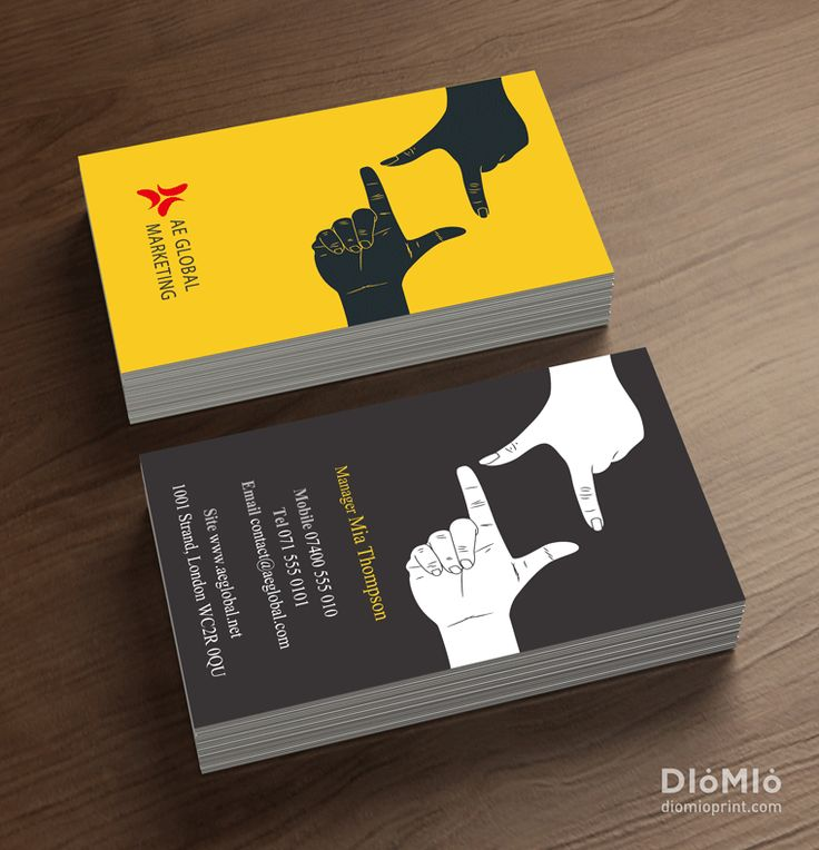Marketer business cards