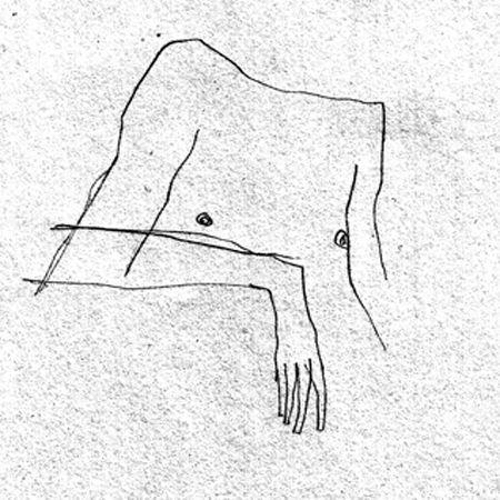 Torse nue crayonnade d'Egon Schielle.
